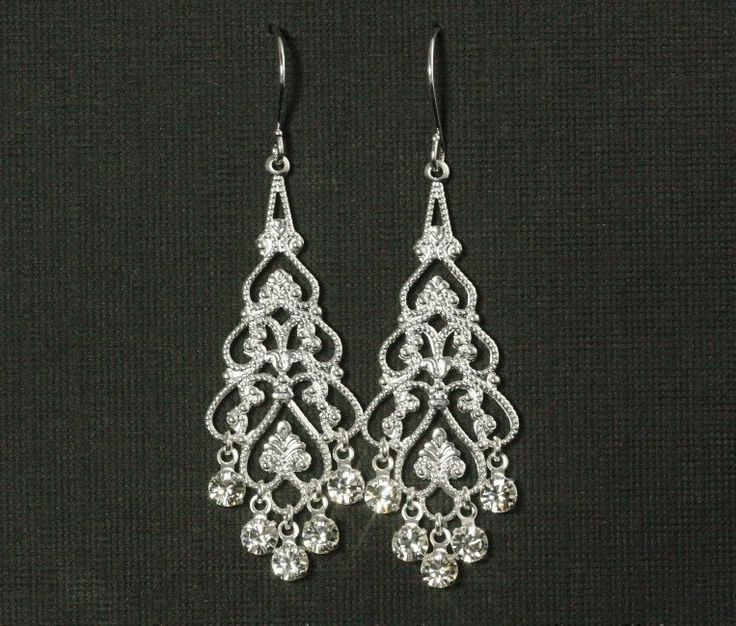 13 best images about Wedding Earrings on Pinterest | Crystal drop ...