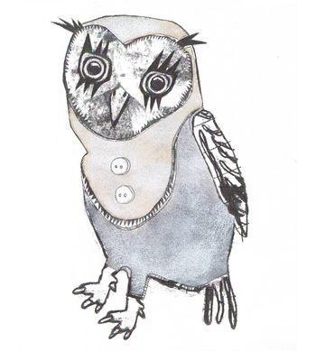 baby owl ( drawing ) - baby owl ( drawing ) by monika petersen for sale online