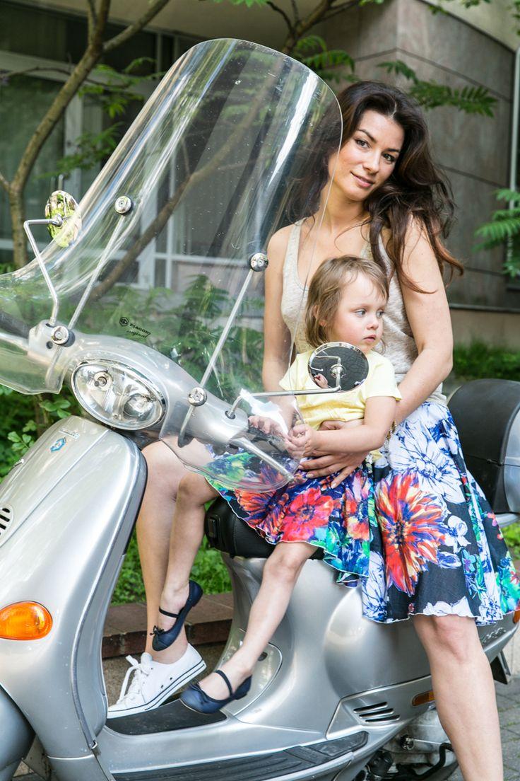 NIGHT FLOWER SKIRT - SET FOR MOTHER AND DOUGHTER - taka Sama spódniczka dla mamy i córki www.thesame.eu