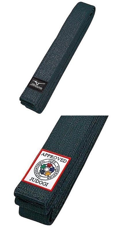 Belts and Sashes 73981: Mizuno Japan Judo Gi Kuro Obi Black Belt With Ijf Official Approval Model Wtrack -> BUY IT NOW ONLY: $43.58 on eBay!