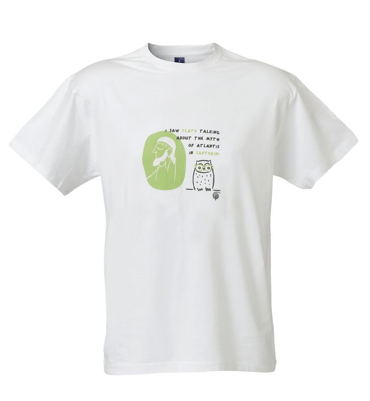 T-SHIRT Santorini: I saw Plato talking about the myth of Atlantis in Santorini! Material: 100% Cotton.