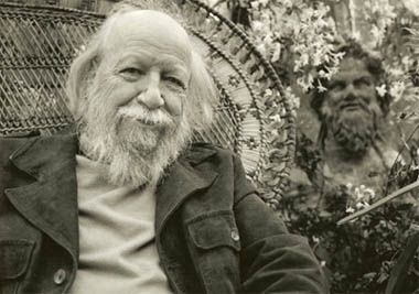William Golding at his home in Cornwall, late 1980s  © William Golding Ltd. on behalf of the photographer