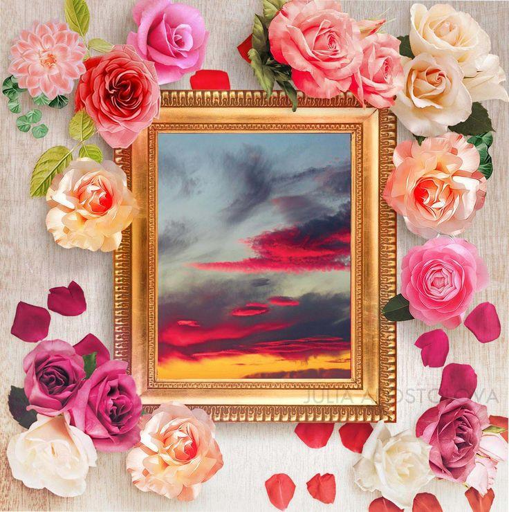 11x14 inch Sunset Photography Sky Overlay Cloud Photo