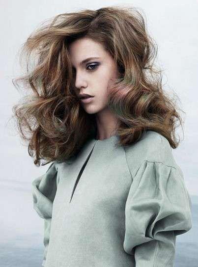 Capelli colorati a contrasto 2014 - Colore capelli verde 2014