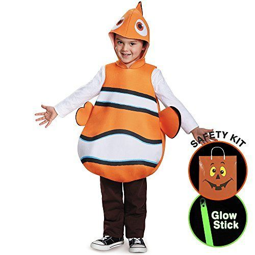 Disneys Finding Dory Boys Nemo Classic Halloween Trick or Treat Safety Kit One Size *** Check out this great product.