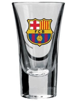 FC Barcelona 3x50ml kieliszki do wódki  • logo klubu – licencja FC Barcelona • komplet 3 szt. • pojemność 50 ml • wykonane z przezroczystego szkła sodowego