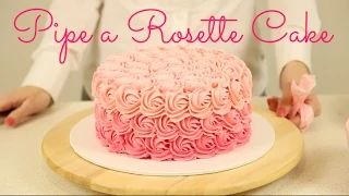 How to Decorate an Ombré Rosette Cake - Tutorial by Cake Style on YouTube