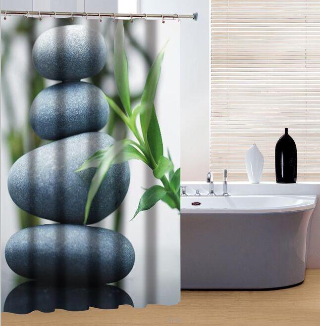 un bain relaxant simpose avec ce rideau de douche - Rideau Salle De Bain Tissu