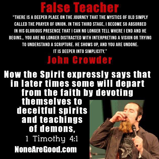 John Crowder, False Teacher
