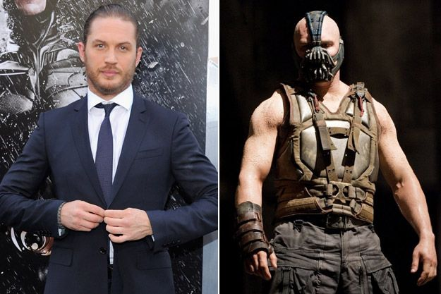 Movie transformations: Tom Hardy in Dark Knight Rises
