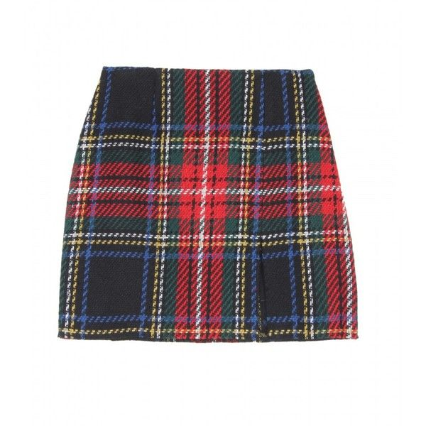 Opening Ceremony Tartan Mini Skirt (1.735 ARS) ❤ liked on Polyvore featuring skirts, mini skirts, bottoms, plaid, saias, black plaid mini skirt, black plaid skirt, mini skirt, short skirts and blue skirt