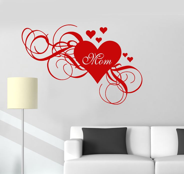 Wall Vinyl Decal Mum Heart Love Mothers Day Family Decor Mom Stickers (ig3068)