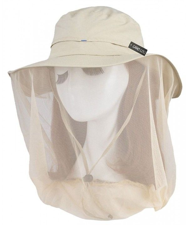 Women S Outdoor Upf 50 Sun Hat With Mesh Face Mask Light Khaki C51213sycnf Sun Hats Hats For Women Outdoor Woman