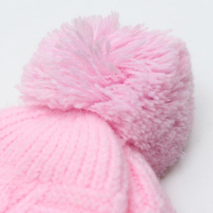 Newborn Baby Boy Girl Infant Toddler Cute Soft Crochet Bear Hat Beanie Warm Cap