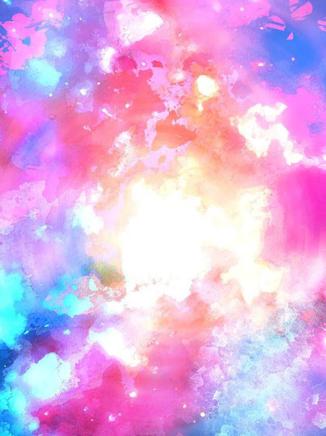 لوحة مائية كاملة تتناثر في خلفية ملونة جميلة Watercolor Splatter Paint Background Paint Vector