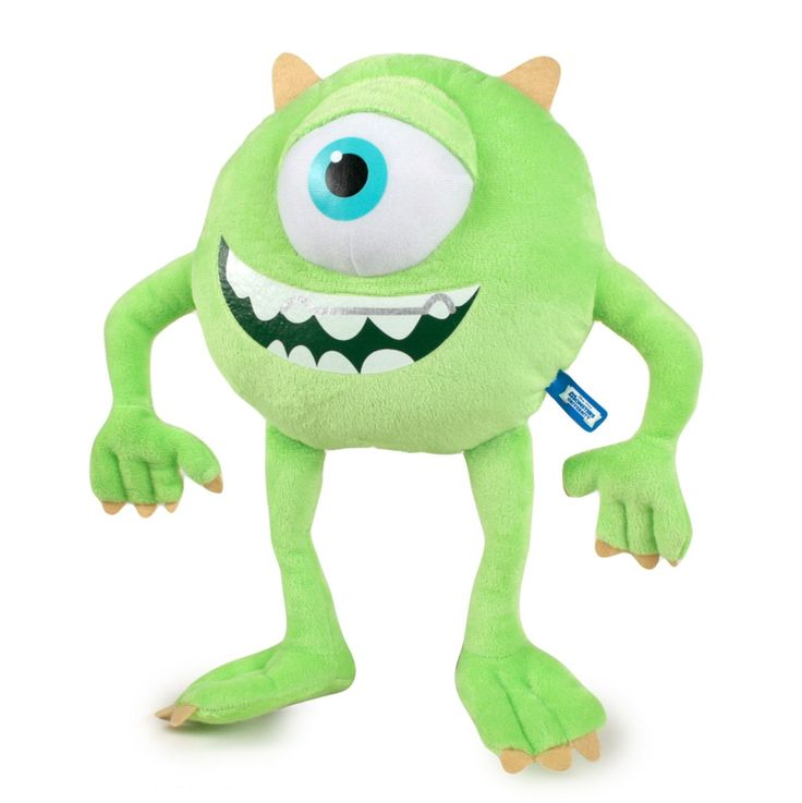 monsters university mike big plush | Mike 14'' Michael Wazowski Plush Monsters Inc University Green Monster ...