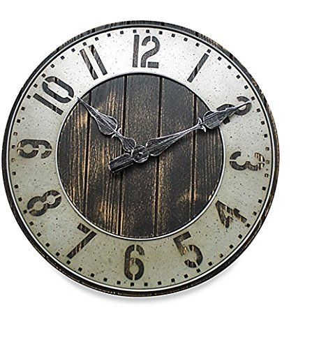 Rustic Wall Clock - Oversized Model 20 Inch - Punched Metal - A Great Addition To Your Home Decor  #Addition #Clock #Décor #Great #Home #Inch #Metal #Model #Oversized #Punched #Rustic #RusticWallClock #Wall The Rustic Clock