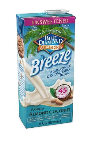 My next try....This stuff (Unsweetened Vanilla Almond/Coconutmilk) is a great substitute for milk and only has 45 calories (1 WW Points Plus) for a cup.