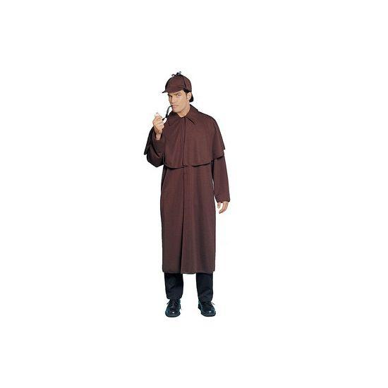 Sherlock Holmes kostuum. Sherlock Holmes kostuum voor volwassenen, bestaande uit de bekende jas en bijpassende pet. One size. Carnavalskleding 2015 #carnaval