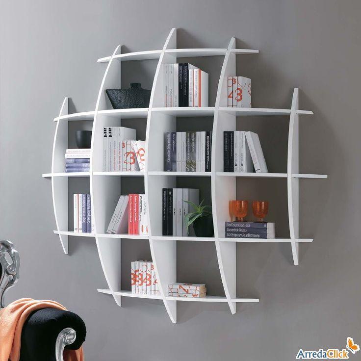 17 migliori idee su Librerie A Parete su Pinterest  Scaffali sospesi, Librerie e Scaffali per ...