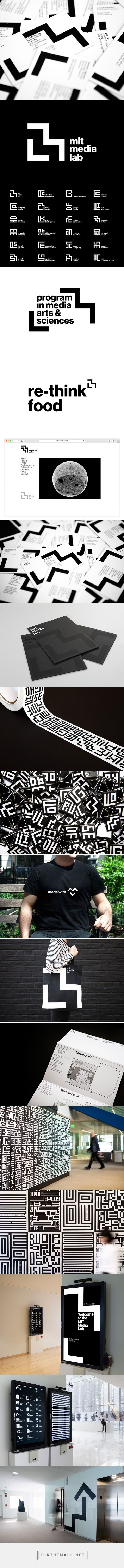 the new MIT media lab identity by pentagram - created via http://pinthemall.net