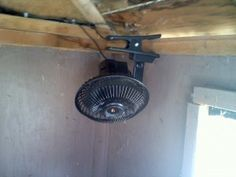 Solar Powered Fan in Chicken Coop