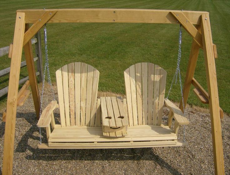 Jake S Amish Furniture 5 Adirondack Swing With Fold