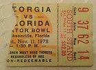 Georgia (UGA) vs. Florida - 1978 Football Ticket Stub (Gator Bowl) - http://oddauctions.net/sports-memorabilia/georgia-uga-vs-florida-1978-football-ticket-stub-gator-bowl/