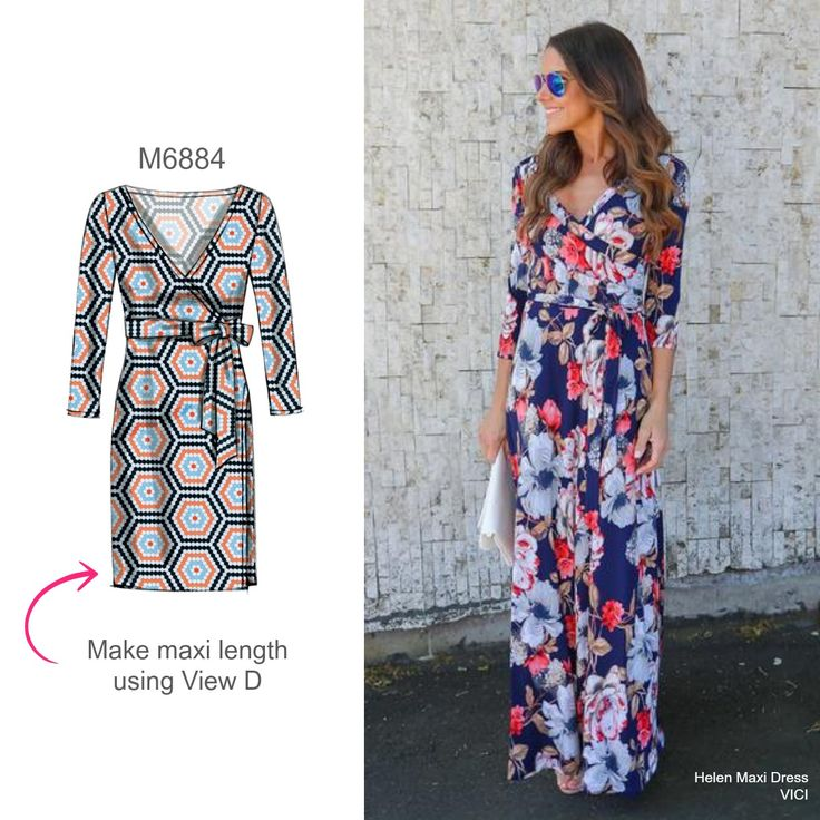 Sew the Look: McCall's M6884 maxi wrap dress sewing pattern
