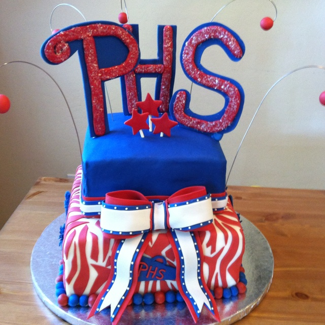 Perry High School cheer banquet cake  By Iced Out Edibles
