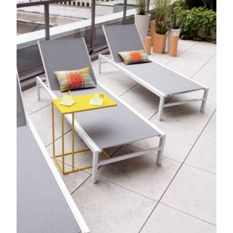 $199 Bask White Sun Lounger In Outdoor Furniture | CB2