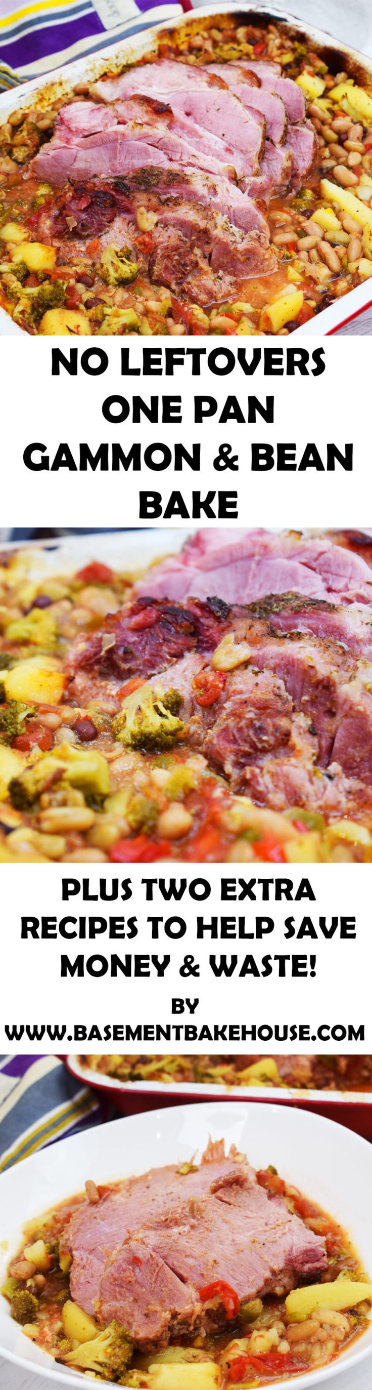 Make this delicious 'No Waste One Pan Gammon & Bean Bake' and reduce food waste with TWO extra recipes to use your leftovers! Perfect for Slimming World using Iceland's range of delicious frozen meat and veg #ad