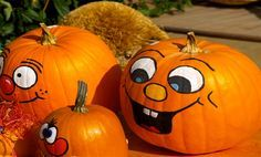 How to Paint Cute Pumpkin Faces on Pumpkins