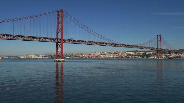 View on the 25 de Abril Bridge in Lisbon 843 by Discovod View on the 25 de Abril Bridge in Lisbon, Portugal.