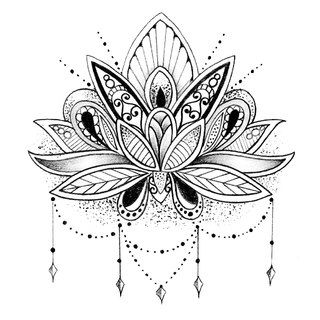 10 best Johi images on Pinterest  Mandalas Drawings and Lotus tattoo