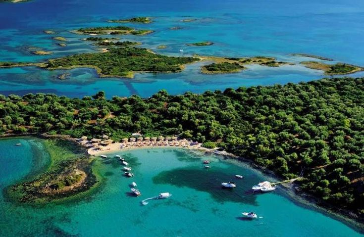 The Maldives of Greece-Lihadonisia in Evia Island, Central Greece, West Aegean Sea