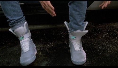 Back To The Future 2 NIKE MAGS #MichaelJFox #MartyMcfly #Shoes #ProductPlacement