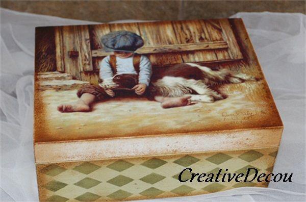 Chłopiec i jego pies http://creativedecou.blogspot.com/