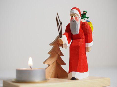 Candle holder - Woodland Santa – Adornare