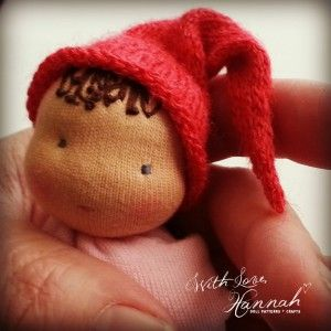 A Free Knit Doll Hat Pattern for Your Bitty Bit Cuddle Baby - A With Love Hannah Pattern