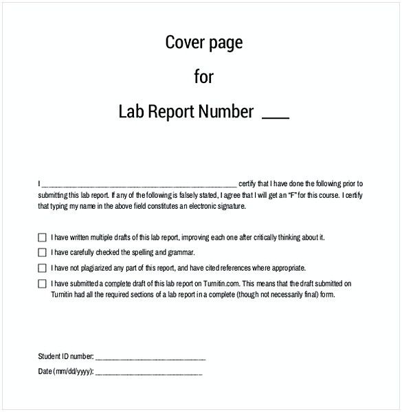 58 Free Download Lab Report Format Template For Scientific Work
