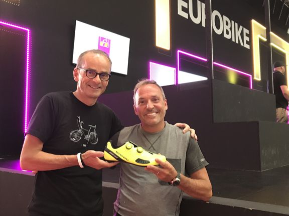 Louis Garneau (Founder and CEO) and Rene Plourde (Product Manager) with X-Comfort Technology [P] Louis Garneau
