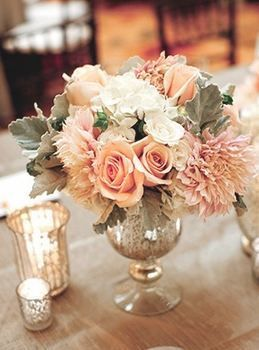 romantic vintage reception wedding flowers,  wedding decor, peach wedding flower centerpiece, peach wedding flower arrangement, add pic source on comment and we will update it. www.myfloweraffair.com