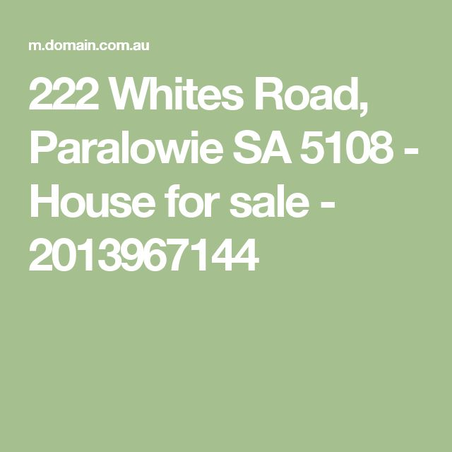 222 Whites Road, Paralowie SA 5108 - House for sale - 2013967144