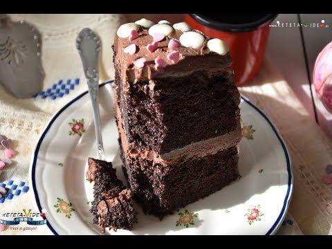 Tort cu Blat Umed si Crema de Unt si Cacao - YouTube
