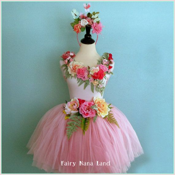 Adult FAIRY COSTUME size medium The Rose Garden by FairyNanaLand, $85.00