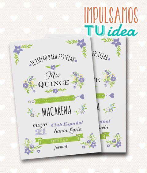 Tarjeta de quince - Invitación de quince Macarena