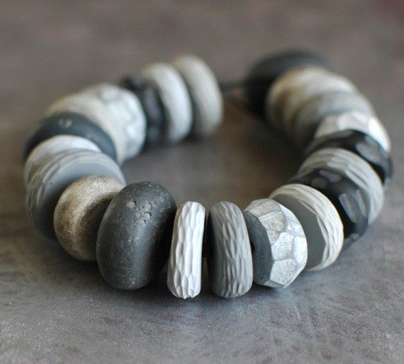 Polymer clay pebbles: looks like cement, in a good way