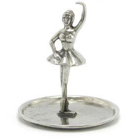 Portanelli Ballerina Porta anelli in peltro realizzato a mano #peltro #madeinitaly #artigianato #pewter