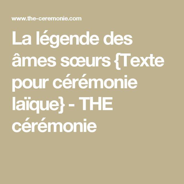 La légende des âmes sœurs {Texte pour cérémonie laïque} - THE cérémonie